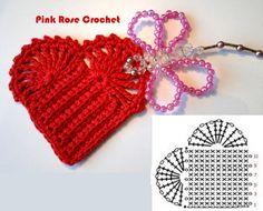 Coração+de+Croche+gr++Crochet+Red+Heart.PNG (607×489)