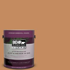 BEHR Premium Plus Ultra 1-Gal. #PPU3-13 Glazed Ginger Eggshell Enamel Interior Paint