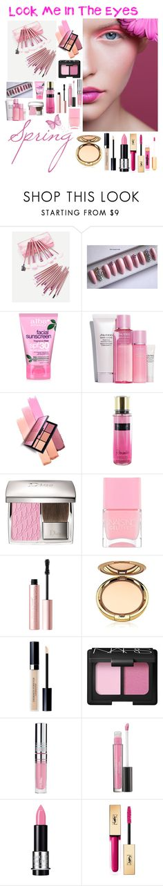 """""""Look me in the eyes"""" by lu-lawrence ❤ liked on Polyvore featuring beauty, Shiseido, Victoria's Secret, Nails Inc., Too Faced Cosmetics, Christian Dior, NARS Cosmetics, PUR, Laura Geller and MAKE UP FOR EVER"""