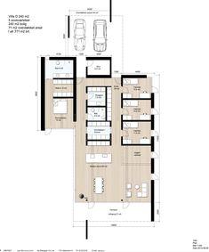 VILLA Highline 240 - 240 m2 bolig med 5 soveværelser, 71 m2 overdækket areal og i alt 311 m2 brt. Se flere plantegninger på www.villa.dk Minimal Home, Architecture Plan, My Dream Home, Minimalist Design, Exterior Design, Planer, Future House, Layout Design, Beautiful Homes