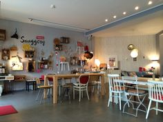 """See 26 photos and 10 tips from 203 visitors to DaWanda Snuggery. """"Very cozy cafe! Cozy Cafe, Diy Shops, Berlin, Four Square, Bar, Dining Table, Furniture, Home Decor, Travel"""