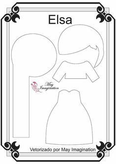 Amigas do Feltro: Moldes Princesa da Disney (Blog Amigas do Feltro) Keinia Araujo