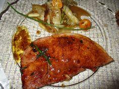 Tranche de jambon marinée à la sauce teriyaki/ gingembre