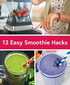 13 Quick and Easy Smoothie Hacks - Life by DailyBurn Mixed Fruit Smoothie, Smoothie Without Yogurt, Blackberry Smoothie, Yogurt Smoothies, Good Smoothies, Healthy Breakfast Smoothies, Smoothie Drinks, Fruit Yogurt, Protein Smoothies
