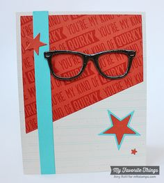 Geek Is Chic, Writing Tablet Background, Blueprints 18 Die-namics, Geek Is Chic Glasses Die-namics - Amy Rohl #mftstamps