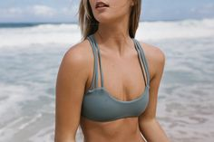 the leahi bikini top by ellemer swimwear. simplicity evolved. comfy & soft bikinis made for surfing.