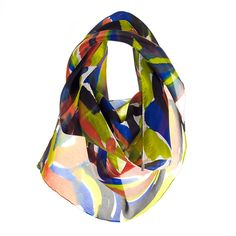 Aster from Rho: 100% luxury hand-painted silk scarves  Perfect fall colors!
