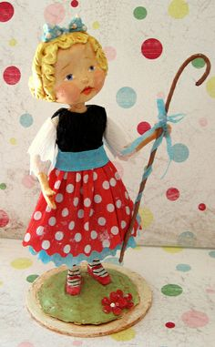 *PAPER CLAY ~ The Little Bo Peep by thepolkadotpixie, via Flickr