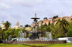 Malaga, Spain is so pretty!  #Malaga #Spain #castle #travel
