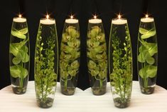 How to Make a Foliage Centerpiece Cactus Centerpiece, Green Centerpieces, Greenery Centerpiece, Floating Candles Wedding, Floating Flowers, Diy Christmas Garland, Diy Garland, Large Flower Arrangements, Large Flowers