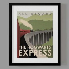 Harry Potter Travel Poster Set- I NEED THIS I don't know who loves Harry Potter more, me or my kids.