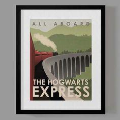 Harry Potter Travel Poster Set