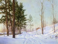 Dans le Berkshire, peinture de Walter Launt Palmer (1854-1932, United States)