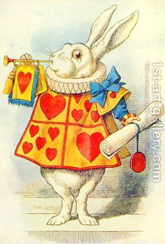 ✌ ☮ ♥ ☮ ✌ jon tenniel  The-White-Rabbit,-Illustration-From-Alice-In-Wonderland-By-Lewis-Carroll-1832-9.jpg