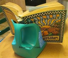 Plastic Bottle Book Stand