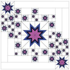 By David Gilleland, Vector Quilts. Includes pattern and all required foundations… By David Gilleland, Vector Quilts. Includes pattern and all Star Quilt Blocks, Star Quilt Patterns, Paper Piecing Patterns, Star Quilts, 24 Blocks, Canvas Patterns, Pattern Blocks, Texas Star, Quilting Projects