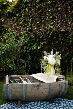 love this for a rustic ice bucket...