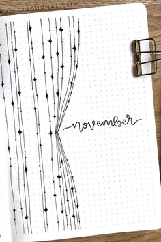 creative bullet journal monthly cover ideas for November Bullet Journal School, Bullet Journal Front Page, February Bullet Journal, Bullet Journal Cover Ideas, Bullet Journal Lettering Ideas, Bullet Journal Notebook, Bullet Journal Themes, Bullet Journal Spread, Bullet Journal Inspiration