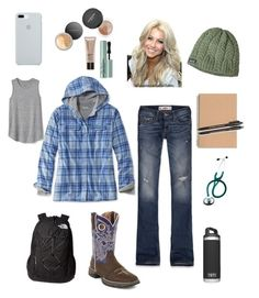 """""""School in the fall/winter"""" by madisonbrown904 on Polyvore featuring Hollister Co., L.L.Bean, Durango, The North Face, JULIANNE, Paper Mate, Patagonia, Gap, ETUÍ and Bare Escentuals"""