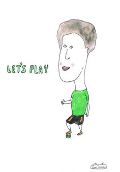 Let's play football. Positive drawing.