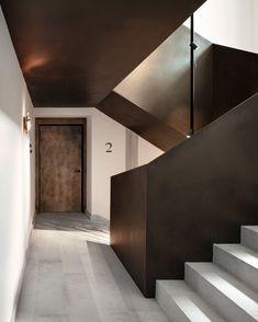 Boutique Design, A Boutique, Hotel Hallway, Air Conditioning Installation, Concrete Slab, Common Area, Stairways, Ground Floor, Interior Design