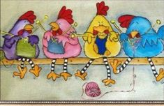 Embroidery & Cross Stitch Chicken Full Diamond Painting Embroidery Diy Needlework Home Decor Gifts Art & Garden Tricot D'art, Art Fantaisiste, Knitting Humor, Knitting Quotes, Knitting Club, Knitting Projects, Knit Art, Chicken Art, Chickens And Roosters