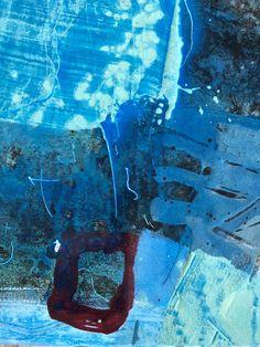 """Mal-Anleitung: """"Küstenblau"""" von Robert Süess - KUNSTschön - der Blog für Kunst, Malen und Zeichnen Structure Paint, Garden Painting, Landscape Paintings, Modern Art, Mixed Media, Abstract Art, Creations, Blog, Gardening"""