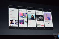 MM Live Apple Music no iOS 10: Tudo está mais claro e simples, com uma melhor separação entre as áreas de um destaque maior para o que importa: música.