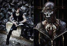 Masked Fashion Features - Masked fashion features are everywhere lately; whether it's lace-eye masks or full-blown animal headgear, these facial fashions add a surreal ...