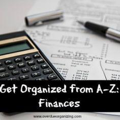 Get Organized from A-Z: Finances