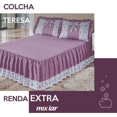 Laurette Floral Ruffled Flounce Grande Bedspread from J Queen New York Designer Bed Sheets, Chair Design Wooden, Banquet Chair Covers, Decoration Bedroom, Bedroom Layouts, Slipcovers For Chairs, How To Make Bed, Bedroom Colors, Bed Design