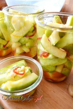 Fruit Salad, Preserves, Pickles, Cantaloupe, Cucumber, Good Food, Homemade, Vegetables, Recipes
