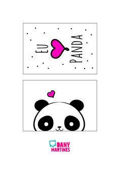 Molde para quadrinhos de Panda