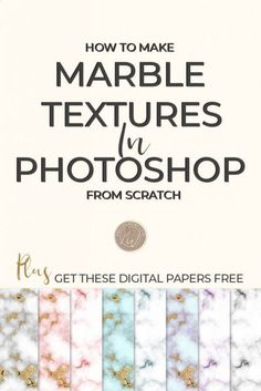 The marble texture look is excellent for showcasing quotes for frames, and of course, they look great as backgrounds. I love it as an accent but also for branded assets such as business cards and stationery.The good news is that a marble texture is super