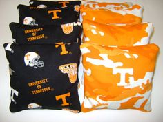 Tennessee Vols CORNHOLE BEAN BAGS 8 Tailgate by Cornholefactory2