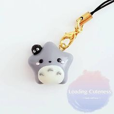 ❤ This Cute Kawaii Ghibli Totoro with Susuwatari / Makkuro kurosuke star Polymer Clay Charm may vary from the photo as it will have to be handmade. ❤ All my charms are made with polymer and will come with a lobster claw clasps. ❤️ All my charms can be worn on as a necklace, bracelet,