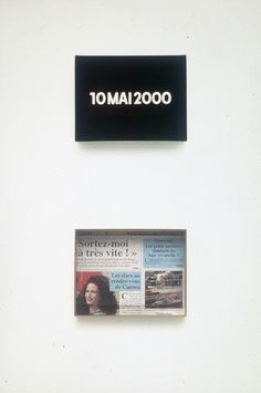 "© On Kawara, Today, 2000  Serie ""Today paintings"""