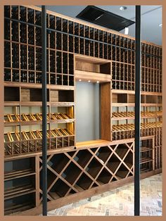 The topic of the day: Technical Tuesday Episode Another Point For Platinum x White Oak - Come in and tell us what you think! Spiral Wine Cellar, Wine Cellar Basement, Home Wine Cellars, Wine Cellar Design, Wine Display, Wine Wall, Wine Cabinets, In Vino Veritas, Wine Storage