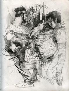 wesley burt, untitled drawing samples