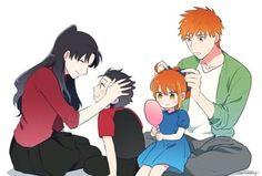 Archer x rin shirin shirou x rin fate stay night ubw Type Moon Anime, Anime Love, Anime Guys, Fate Stay Night Rin, Fate Archer, Konan, Fate/stay Night, Tohsaka Rin, Shirou Emiya