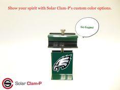 Solar Clam-P, we start the trend. Go Eagles, Clams, Solar Panels, Color, Sun Panels, Solar Power Panels, Seashells, Colour, Colors