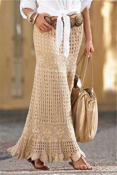 Mais #saiaslongas http://modafeminina.biz/saias-moda/longas-croche #modafeminina