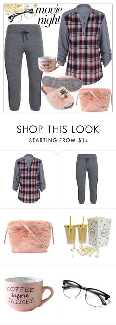 """""""Movie Night"""" by france-dream ❤ liked on Polyvore featuring Icebreaker, Furla, plaid, relax and movieNight"""