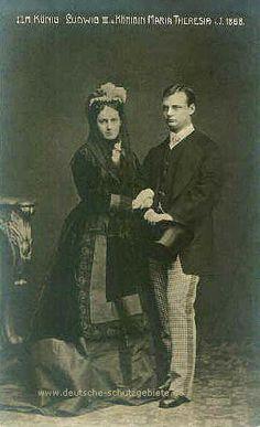 König Ludwig III und Konigin Maria Theresia, 1868