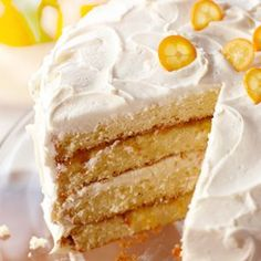 Orange Chiffon Layer #Cake