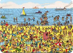 Where is Waldo/Wally Postcard from Brumby in Adelaide Australia Wo Ist Waldo, Picture Story For Kids, Ou Est Charlie, I Spy Books, Hidden Picture Puzzles, Can You Find It, Wheres Wally, Hidden Pictures, Hidden Pics