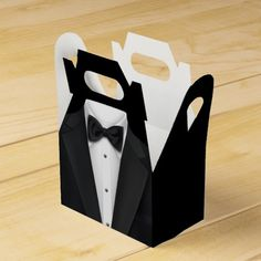Shop Black Tuxedo Favor Box created by All_Occasion_Gifts. James Bond Party, Flower Box Gift, Friends Picture Frame, First Birthday Party Themes, Diy Gift Box, Diy Box, Creative Box, Photo Booth Frame, Diy Gifts For Friends