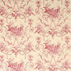 Papier peint Tuileries cranberry