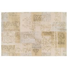KAS Rugs Donny Osmond Home Timeless Tapestry Patchwork Rug, Beig/Green (Beig/Khaki)