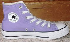 Converse Purple Lavender Sneakers Girls Shoes All Star Hi Top Chuck Taylor Sz 3 $60 obo free shipping #Converse #Athletic